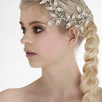My Eternal Aphrodite bridal hair vine - Stunning hair piece with leaves