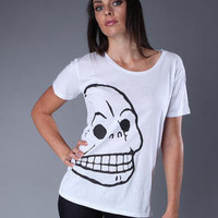 DJPremium.com - Women - Shop by Department - Tops - CAROLINA TEE WITH SKULL