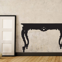 Antique Table Silhouette - Great Style Vinyl Decor