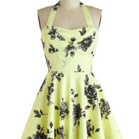 Traveling Cupcake Truck Dress in Lemon Roses | Mod Retro Vintage Dresses | ModCloth.com