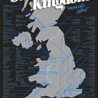 Gorgeous Music Map Of The UK