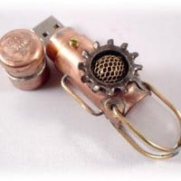 Steampunk 8GB USB Flash Drive Model 340 in a by BasementFoundry