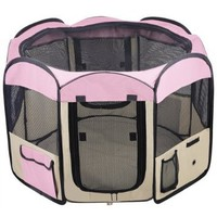 """Portable 33"""" Dog Pet Cat Playpen Kennel Crate Cage Exercise Guinea Pig Puppy 33 inches Tent House"""