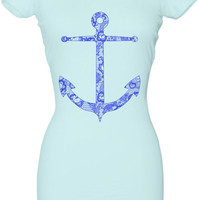 Nautical Anchor Lace Tshirt