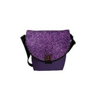 Faux Purple Glitter Messenger Bags from Zazzle.com