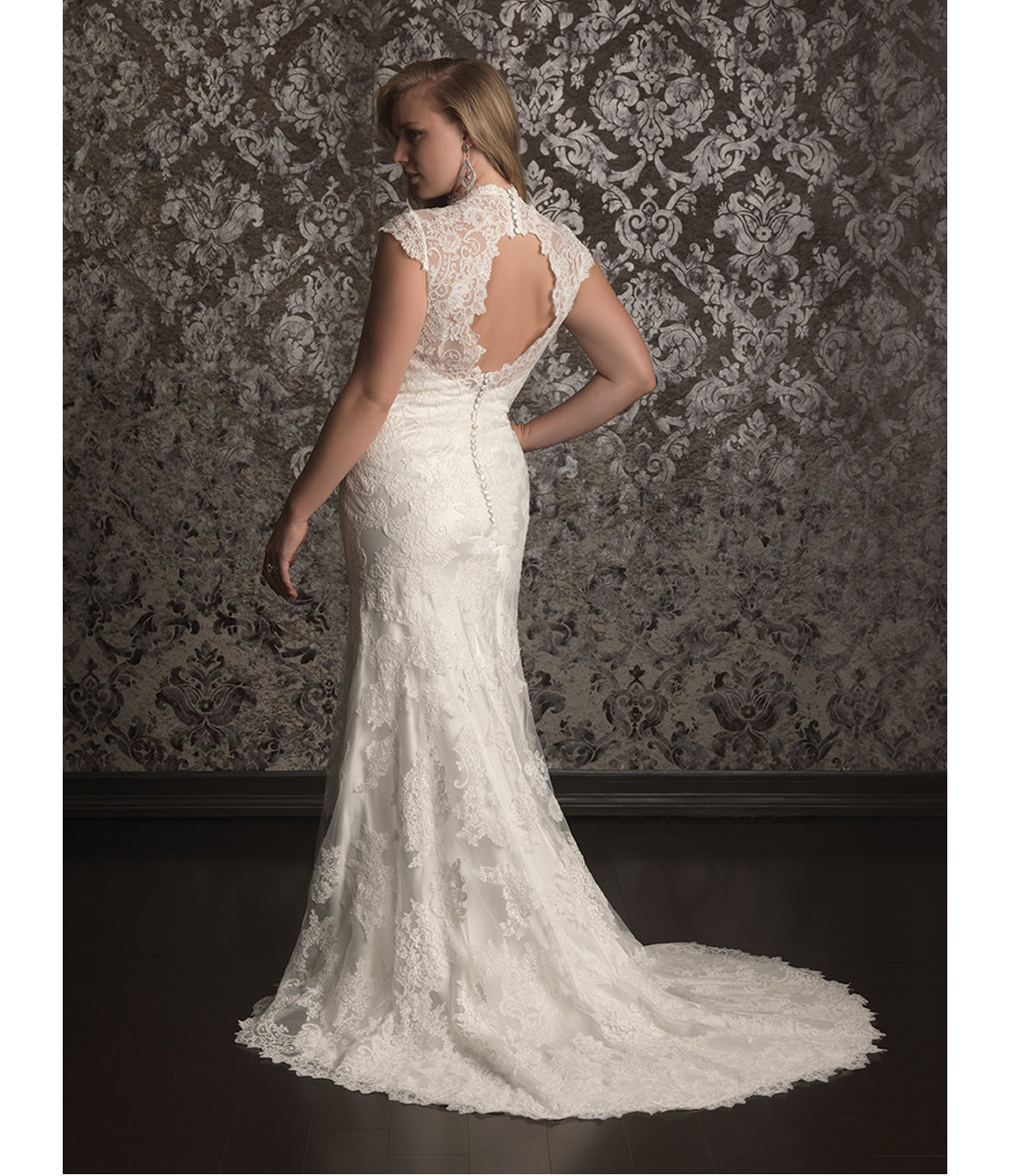 2013 Women Allure Bridal Ivory Lace & from Unique Vintage