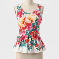 Garden Escape Peplum Top