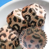 Mini Leopard Print Cupcake Liners Candy by thebakersconfections