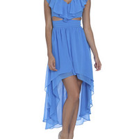 Ruffled Cutout High-Low Dress | Shop Dresses at Arden B