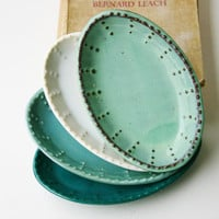 Small Oval Dish - Choose Your Color -  Aqua Mist French Country Dinnerware - One Dish