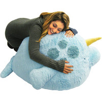 Massive Narwhal Bean Bag: An Adorable Fuzzy Plush to Snurfle and Squeeze!