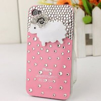 3D Bling Crystal iPhone Case for AT&amp;T Verizon Sprint iPhone 4/4S Pink Sheep: Cell Phones &amp; Accessories