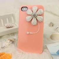 3D Bling Crystal iPhone Case for AT&T Verizon Sprint iPhone 4/4S Sunflower Baby Orange: Cell Phones & Accessories