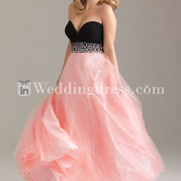 romantic a-line celebrity prom dress with sequins and beading