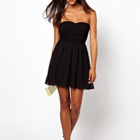 ASOS | ASOS Soft Bandeau Skater Dress at ASOS
