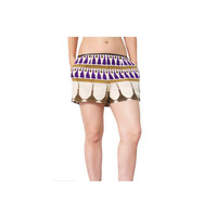 Ethnic Tassle Silk Print Shorts by SAMPLELAB3point14 on Etsy