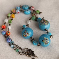 Handmade Bubble Gum and Candy Millefiori and Fritted Glass Necklace | peaceloveandallthingsjewelry - Jewelry on ArtFire