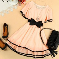 070302 Chiffon dress sub bottoming