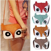Womens Retro Leather Fox Bag for Summer