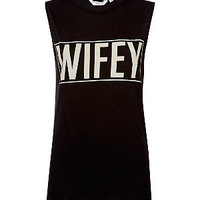 Black Wifey Tank Top