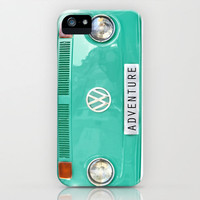 Adventure wolkswagen. Summer dreams. Green iPhone & iPod Case by Guido Montañés