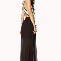 Cutout Striped Maxi Dress | FOREVER 21 - 2000050915