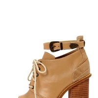 Kelsi Dagger Bina Natural Peep Toe Booties