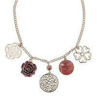 Rose Gold Charms Statement Necklace - Statement Necklaces - Necklaces