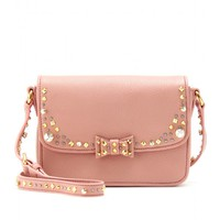 Embellished Leather Shoulder Bag  ∫ Miu Miu | mytheresa