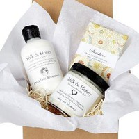 Milk n' Honey GiftWrapped Set Fizzy Milk Bath by SpaGoddess