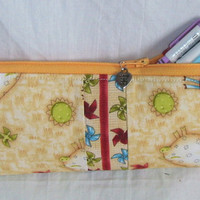 Zipper Pouch Pencil Case by GoGreenWithRed on Etsy