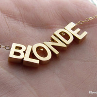 BLONDEGolden Charm Novelty Necklace by BlondeChick on Etsy