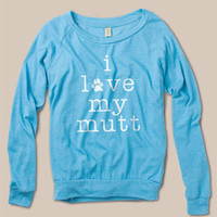 I Love My Mutt Lightweight Long Sleeve Shirt