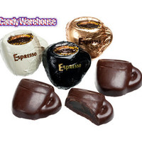 Foiled Dark Chocolate Truffle Coffee Cups - Espresso: 40-Piece Tub | CandyWarehouse.com Online Candy Store