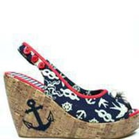 Too Fast Sailor Wedges