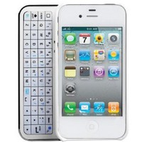 Apple iPhone 4 Sliding Bluetooth Hardshell Keyboard Case