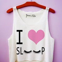 I Heart Sleep Crop Tank Top