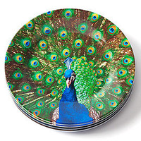 Z Gallerie - Peacock Plate 9 - Set of 4