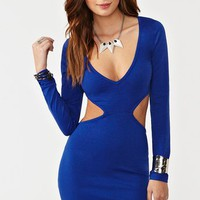 Roxy Cutout Dress - Blue in  Clothes at Nasty Gal