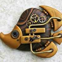 Steampunk Butterflyfish by fauxhead on Etsy