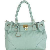 Oasis Shop | Turquoise Twist Handle Tote Bag | Womens Fashion Clothing | Oasis Stores UK