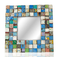 Square Mosaic Mirror 23 x 23 in by EcologicaMalibu on Etsy