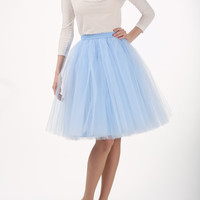 Baby blue tulle skirt baby blue tutu skirt by Fanfaronada on Etsy