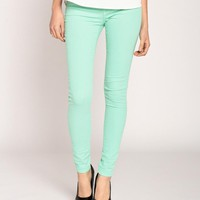 Klique B Colored Skinny Jeans in Cool Jade on LoLoBu