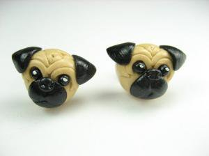 Little Pug Earrings by beadpassion on Etsy
