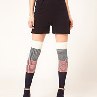 Happy Socks | Happy Socks Over The Knee Color Block Socks at ASOS
