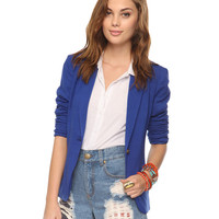Peaked Lapel Knit Blazer | FOREVER21 - 2008585208