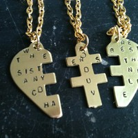 we are the 3 best sisters anyone could have Puzzle Pendant best friends forever
