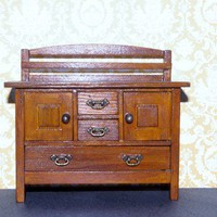 Dolls House Miniature Prairie Style Sideboard