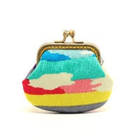 Over the rainbow OOAK mini clutch purse by misala on Etsy